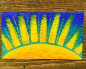 Golden Rays of Sunshine Oil Hand Painted Magnet ACEO