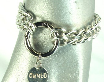 Owned Bracelet Bdsm Jewelry Mens Submissive jewelry mature male slave jewelry bondage jewelry mine charm bracelet