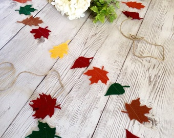 Fall Leaf Garland, Autumn Leaves, Wedding Garland, Thanksgiving Garland,  Harvest Decoration, Autumn Banner