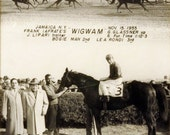 Vintage B&W Photo NY Horse Racing - Jamaica 1955 - Wigwam