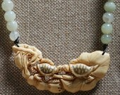 Creamy Ivory colored carved turtles with lotus