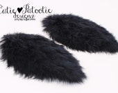 READY TO SHIP: Regal Raven Feather Arm Bird Wings - Black Bird Costume Accessory - Toddler - Child Size - Cutie Patootie Designz