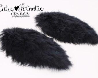 READY TO SHIP: Regal Raven Feather Arm Bird Wings - Black Bird Costume Accessory - Toddler - Child Size - Cutie Patootie Designz