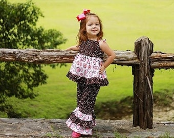 Ruffled Dress/Top Sewing Pattern, Toddler Dress Pattern, Girl's Tunic Pattern