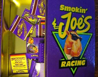 Smokin' Joe's Racing Vintage Collectors Tin and Matches RJReynold's Tobacco Camel Promotional Advertising Tobacciana