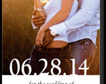 Save the Date Magnet with Picture