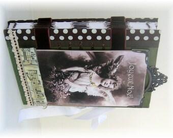 Scrapbook, Photo Album, Smash Book, Vintage Christmas Angel