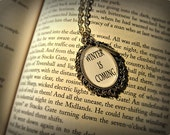 Winter Is Coming Game Of Thrones Inspired Necklace Pendant with Sword Charm