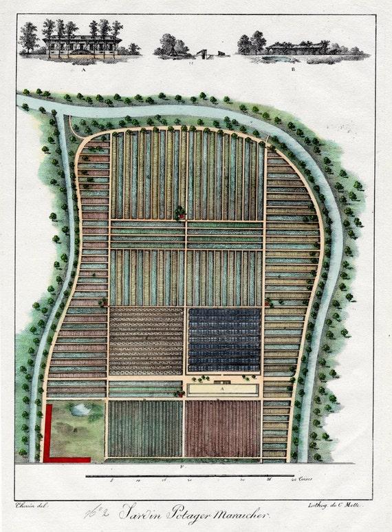 Garden Plan 1828 French Garden Design by by