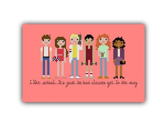 Saved By the Bell Pixel People Cross Stitch Pattern