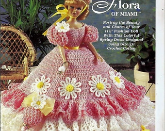 Ladies of Fashion Flora of Miami Fashion Doll  Crochet Pattern  The Needlecraft Shop 982528