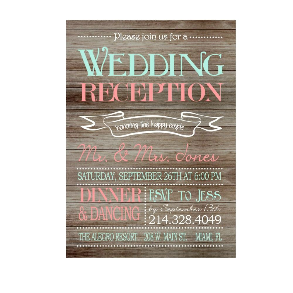 Reception only | Etsy