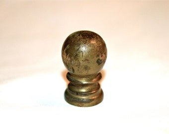 Keep It Simple with This Classic Small Brass Ball Lamp Finial Vintage Mid Century