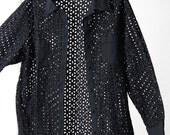 See-Through Black Holey 90s Shirt/Jacket