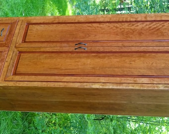 Very large Cherry Pantry with door shelves and Plenty of Extras