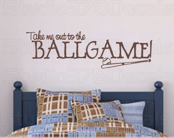 Baseball Wall Art take me out to the | etsy