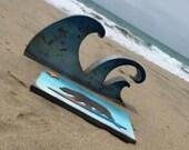 Big Metal Wave Art…. Beach House, Nautical, Baby Family Room Boys Room, Gift, Birthday Wedding Play Room