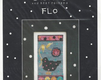 "Clearance - ""Flo""  Counted Cross Stitch by Sisters & Best Friends"