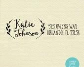 Modern custom self inking address stamp style 245 - Lovely Little Party
