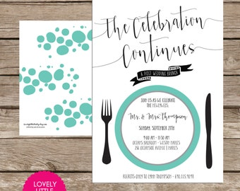 Post Wedding Brunch Invitation DIY Printable -  Lovely Little Party
