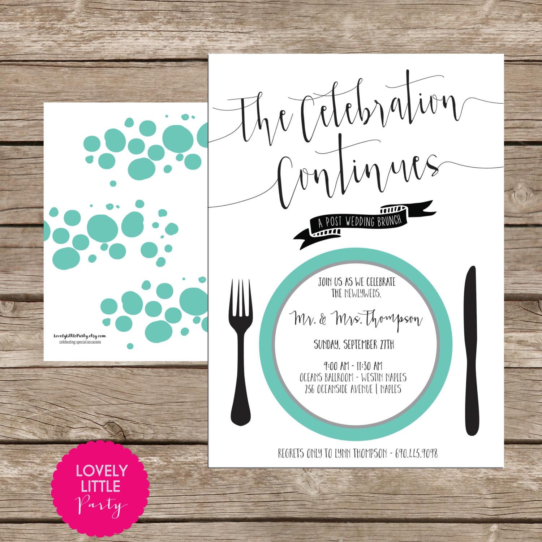 diy post wedding reception invitations - 28 images - modern post ...