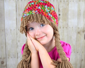 Baby Hat Cabbage Patch Hat Colorful Winter Beanie for Girls