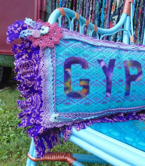 GYPSY pillow vintage turquoise southwestern by TheSleepyArmadillo