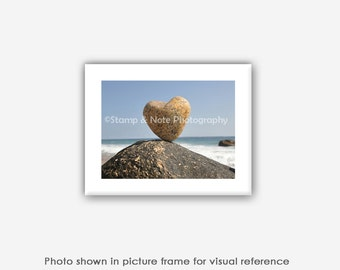 Heart Shaped Rocks Photograph, Wall Art, Blank Photo Greeting Cards, Gift for Him, Husband, Boyfriend, Her, Girlfriend, Wife