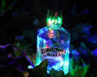 Polish Vodka Żubrówka - Bison Grass Vodka - multicolor bottle light, battery powered