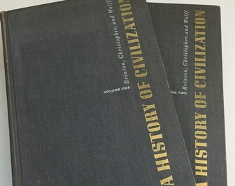 A History of Civilization Vintage Textbooks 1955 Two Volumes
