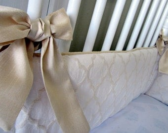 UPGRADE ONLY: add fabric ties to bumper, Faux Dupioni Silk fabric