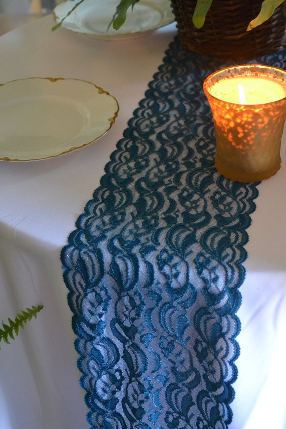 12 ft teal lace trim 8 wide by 144 length clothing by for 12 ft table runner