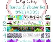 Etsy Banner Set - Premade Etsy Banner - Etsy Shop Banner -  Etsy Shop Banner And ICON Set
