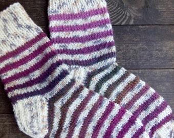 Hand KnitWool Socks-Size Small, Medium-US W7-7,5,EU37,5-38