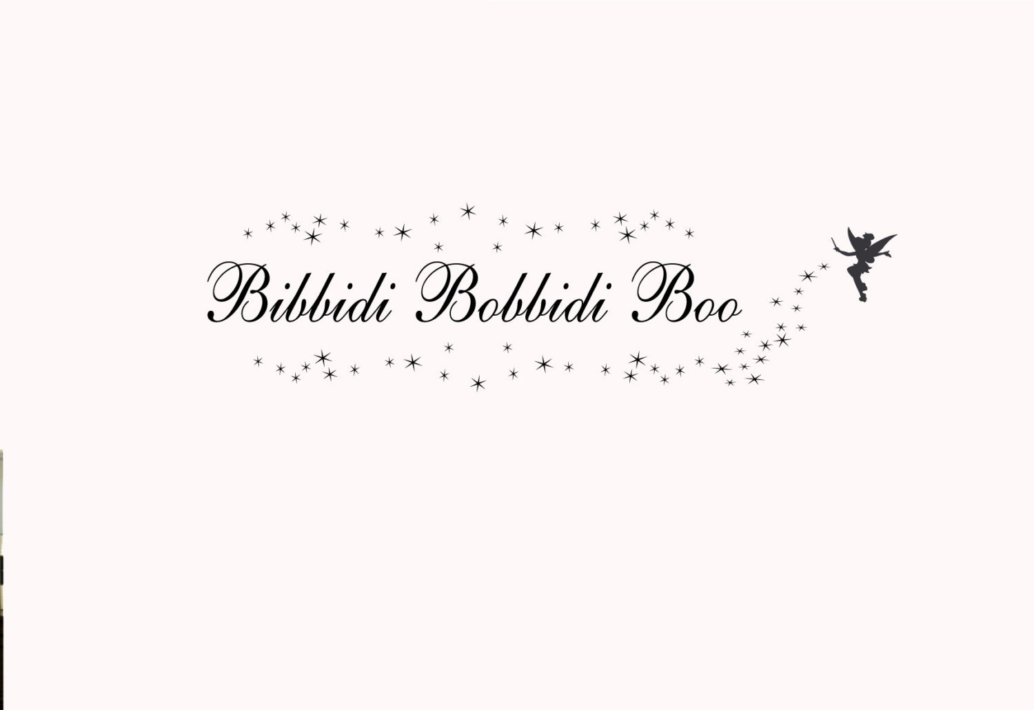 Bibbidi Bobbidi Boo Wall Decal Princess Decor With Star