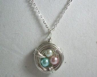 Pearl Birds Nest Necklace