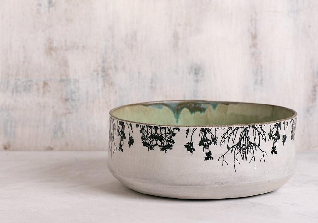 Ceramic Bowl Modern Serving Bowl Home Decor Fruit Bowl Mint