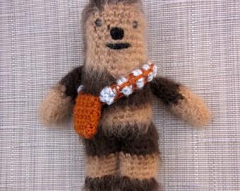 Chewbacca Crochet Doll - Star Wars Amigurumi - Photo Prop - Crochet Chewbacca - Chewie Plush Toy - Crochet Figure - crochet Doll Figurine
