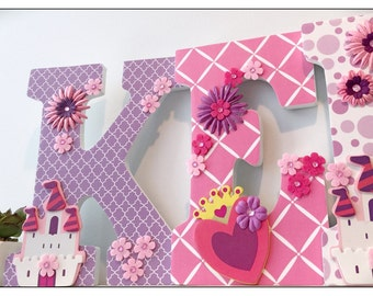 Princess Nursery. Baby Girl Letters. Butterflies. Baby Letters. Wall Letters. Name letters. Tiddliwinks. Stripes. Purple. Pink. Nursery.