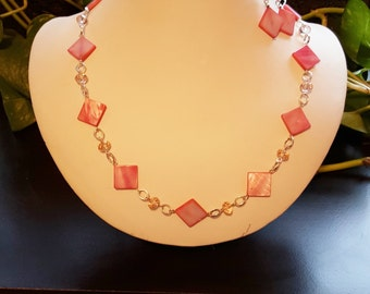 Pink Shell Necklace Set