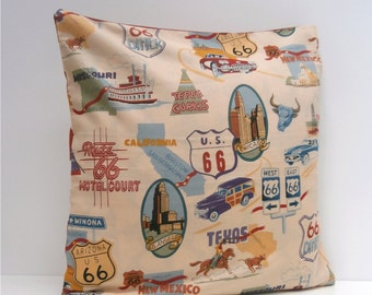 Route 66 Road Trip Pillow / Cushion cover