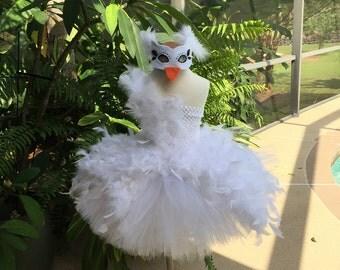 White Swan Lake Tutu Dress with Mask,  Swan Costume,  Swan Lake, White Swan, Black Swan, Swan tutu
