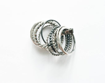 Beautiful Silver Ring / 11 rings in one!!!