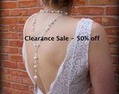 Back Drop Bridal Necklace-Pearl Necklace-Back Necklace-Back Drop Necklace-Backdrop Necklace-Low Back Wedding Dress-Dream Day Designs