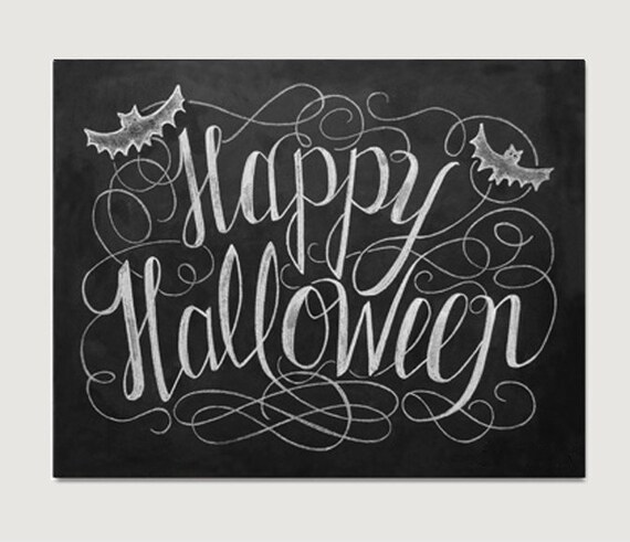 Happy Halloween Black And White Items similar to Happy...