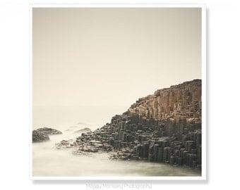 Fotografia di Irlanda, costiere Wall Art, The Giants Causeway, Made In Irlanda, Irlanda fotografia, regali per geologi, fionn mccool