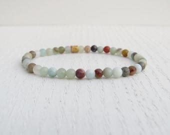 Amazonite bracelet, Stretch beaded bracelet