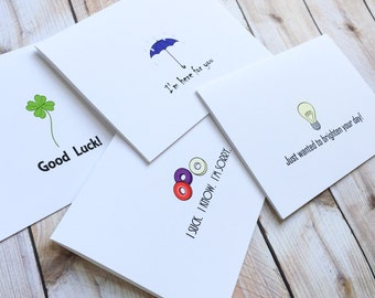 Friend Cards, Sending Love, Sorry, Good Luck, Sympathy, Friendship Assorted Notecards