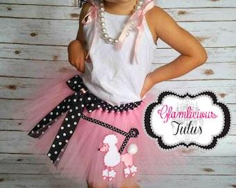 Pink Poodle Skirt tutu| newborn- Adult listing|Poodle skirt|