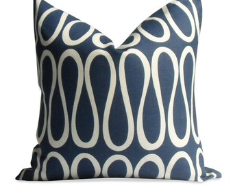 """Jonathan Adler Pillow Cover - 20"""" x 20"""" – Invisible Zipper - Linen Pillow - Toss Pillow"""